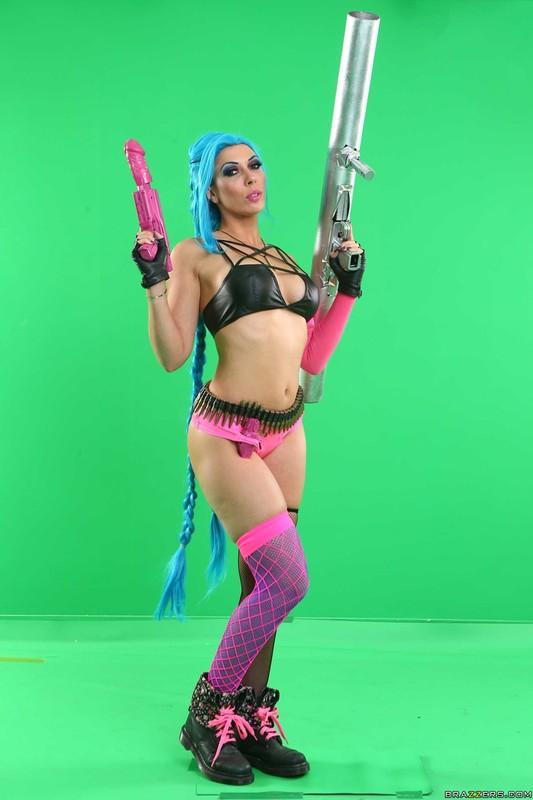 [BrazzersExxtra.com / Brazzers.com] Rachel Starr (League of Pornstars: A XXX Parody / 30.03.2018) [2018 г., Big Tits, Blonde, Boots, Bubble Butt, Cosplay, All Sex, Leather, Parody, Piercing, Tattoo, 720p]